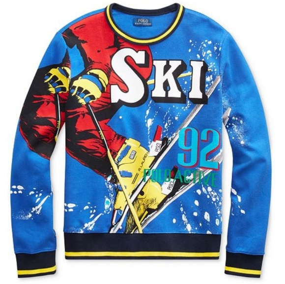 d4e652ff46b61 Downhill Skier Double-Knit Sweatshirt